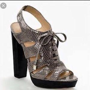 Coach Moreen platform heels sz 7.5